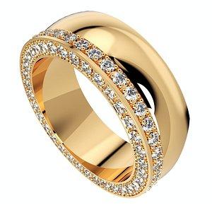 3D ring set women men