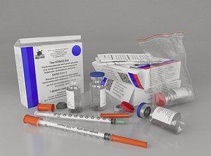 vaccine covi 2019 3D model