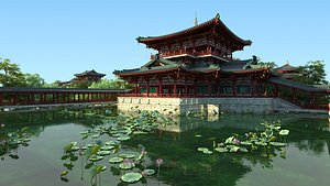3D architecture ancient chinese model