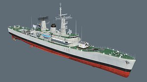 3D model frigates classes leander