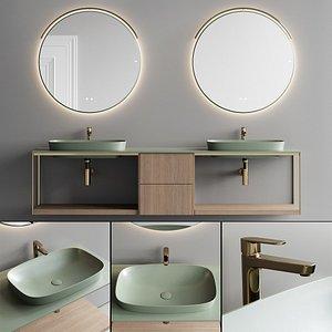 Fiora Sen Vanity Unit Set 3 3D model