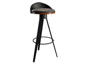 3D bar stool chair model