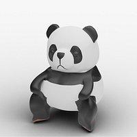 Low Poly Cartoon Panda