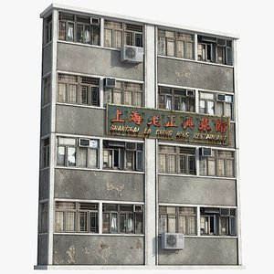 3D Hong Kong Building Front model