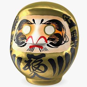 Japanese Daruma Doll Gold 3D model