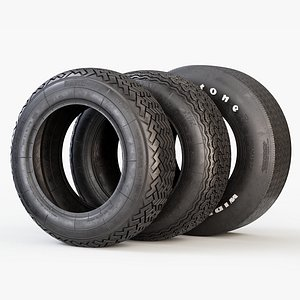 3D tyre classic car