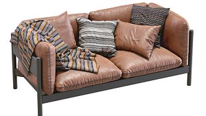 Arbour Leather sofa by HAY 3D model