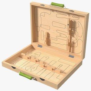 Empty Wooden Case 3D model