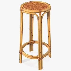 3D Bamboo Bar Stool Round High