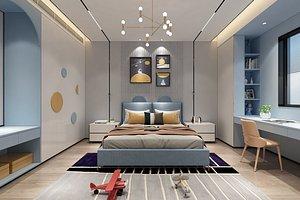 3D model Bedroom Post-modern