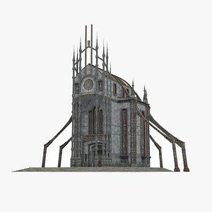 3D Future wasteland style Cathedral model