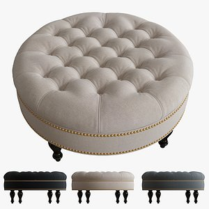 3d model palfrey linen modern tufted