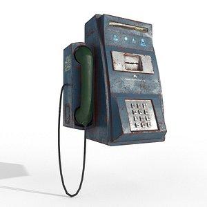 3D payphone model