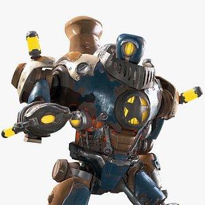 3D steampunk robot