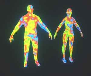 3D thermal image heatmap male female