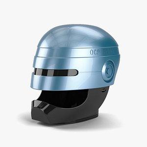 3D robocop helmet