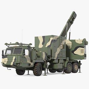 camouflage mobile tracking radar model