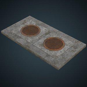 manhole 2b 3D model