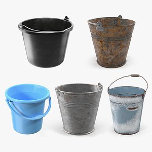 Buckets Collection 3 3D