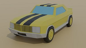 3D cartoon sportcar car