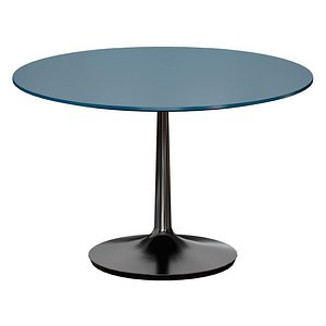 3D model Nero 48 Blue Lacquer Dining Table with Matte Black Base