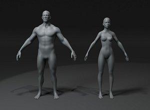female body base mesh 3D model
