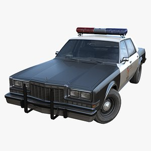 Dodge police interceptor PBR 3D model