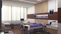 Home-like Hospital Patient Room Interior 3D model