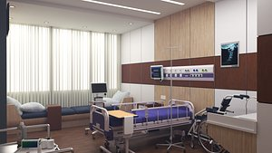 3D hospital interior room