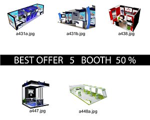 Booth Exhibition Stand c8 3D model