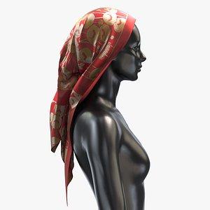 Scarf Gucci 002 - PBR 8K Silk Women 3D model