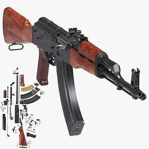 rifle ak automatic model
