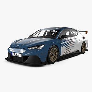 Cupra Leon e-Racer 2021 3D model
