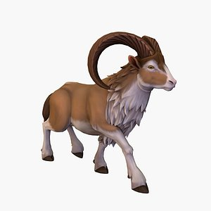 3D model sheep rigged