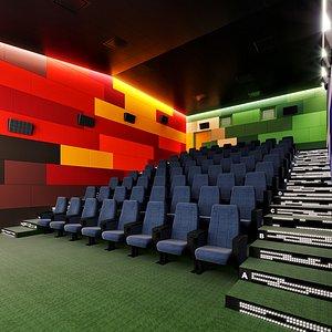 3D theater theatre interior model