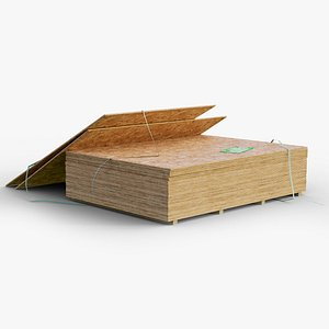 pallet plywood used gameready model
