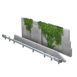 highway barriers 3D model