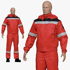 3D 001154 engineering suit red