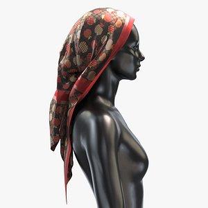 3D Scarf Gucci 003 - PBR 8K Silk Women