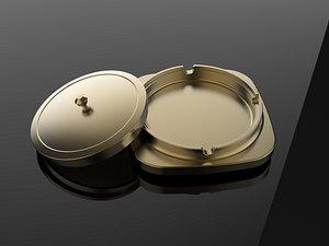 Metal ashtray bowl C4D small dish model