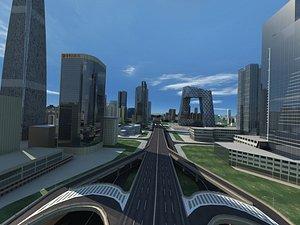 central business district 3D