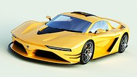 Generic Sports Car With Realistic V-Ray Materials 3D Model