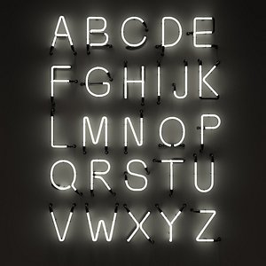 Neon Alphabet modular Light 3D model 3D model 3D model