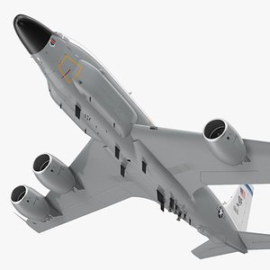 3D Boeing RC-135W Rivet Joint Flight model