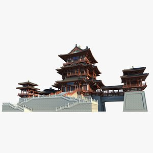 3D Chinese Building 27