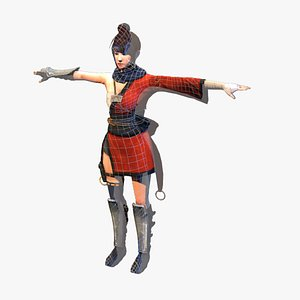 asian assassin fighter model