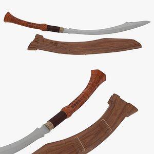 3D Panabas Sword model