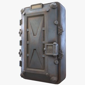 3D metal door - ready