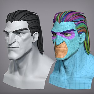3D Cartoon male character Vito base mesh