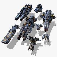 SR - Serie Spaceships Pack